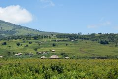Traditionelles afrikanisches Dorf stockfoto