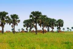 Traditionelles afrikanisches Dorf Stockfotos