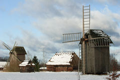 Traditionelles altes polnisches Dorf Stockbild