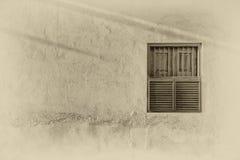 Traditionelles arabisches Fenster im Sonnenlicht Lizenzfreie Stockfotos