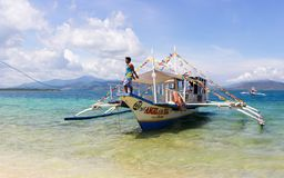 Traditionelles banca Boot auf Philippinen stockbild