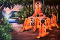 Traditionelles Bild in der thailändischen Art Stockbild