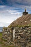 Traditionelles Blackhouse, Lewis, Hebrides, Scotlan Lizenzfreie Stockfotos