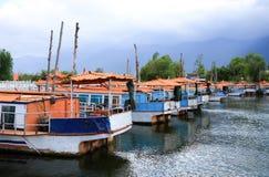 Traditionelles Boot der chinesischen Art Stockfoto