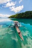 Traditionelles Boot in Indonesien Stockbild
