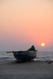 Traditionelles Boot von GOA, Indien Stockfotos