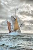 Traditionelles Britton-Schiff Stockfoto