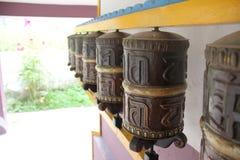 Traditionelles Buddhismusbeschwörungsformelrad Stockfotografie