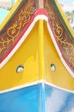 Traditionelles buntes Fischerboot in Marsaxlokk Malta Lizenzfreie Stockfotografie