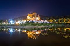 Traditionelles Chiang Mai, thailändische Architektur in der Lanna-Art Stockfoto