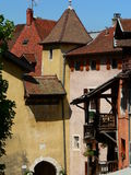 Traditionelles de Maisons, Annecy (Frances) Photographie stock libre de droits