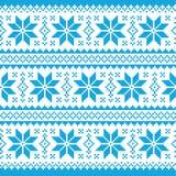Traditionelles dekoratives Weihnachten gestricktes Muster - vektor abbildung