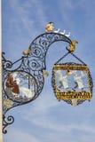 Traditionelles der Metzgerei unterzeichnen herein Colmar Lizenzfreies Stockfoto