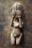 Traditionelles Dogon schnitzte Abbildung auf einer Tür #2 Stockbild