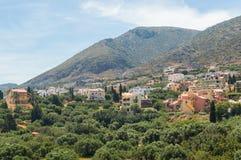 Traditionelles Dorf in Kreta, Griechenland Lizenzfreies Stockbild