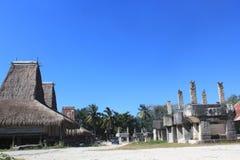 Traditionelles Dorf Sumba Stockbild