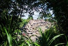 Traditionelles Dorf von Bena in zentralem Flores Lizenzfreies Stockbild