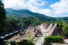 Traditionelles Dorf von Bena in zentralem Flores Stockbild