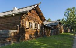 Traditionelles Dorf von Sibirien Lizenzfreies Stockfoto