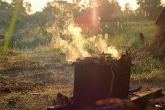 Traditionelles Einheimisches der Bonbons mit Rauche oder Hitze Lizenzfreie Stockfotos