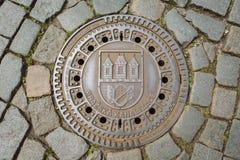 Traditionelles Emblem - Prag, Tschechische Republik Stockfotografie