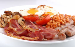 Traditionelles englisches Frühstück Stockbilder
