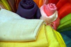 Traditionelles farbiges Gewebe Lizenzfreie Stockbilder