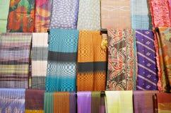 Traditionelles farbiges Gewebe Südostasiens Lizenzfreies Stockfoto