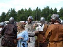 Traditionelles Festival der alten Kultur der Slawen Lizenzfreies Stockfoto
