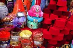 Traditionelles Fez auf Bildschirmanzeige Lizenzfreie Stockfotos