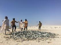 Traditionelles Fischen in Oman Stockfoto