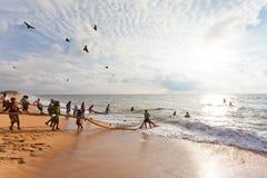 Traditionelles Fischen, Sri Lanka Lizenzfreie Stockfotografie