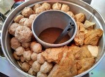 Traditionelles Fleischklöschen in Indonesien Lizenzfreies Stockbild