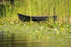 Traditionelles Floss nannte Lotca das Fischerboot der fishermans Lizenzfreie Stockfotografie
