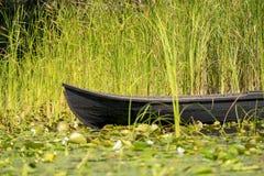 Traditionelles Floss nannte Lotca das Fischerboot der fishermans Stockfotos