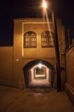 traditionelles Gebäude des luftgetrockneten Ziegelsteines in Yazd Stockbilder