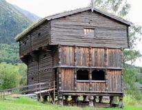 Traditionelles Gebäude in Norwegen Stockfotos