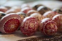 Traditionelles gemaltes Osterei von Bucovina, Rumänien Lizenzfreie Stockbilder