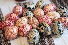 Traditionelles gemaltes Osterei von Bucovina, Rumänien Stockbilder
