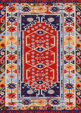 Traditionelles geometrisches ethnisches Orient-Antiken-Teppich-Gewebe lizenzfreies stockfoto