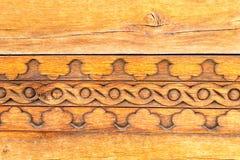Traditionelles geschnitztes Holz Lizenzfreies Stockbild