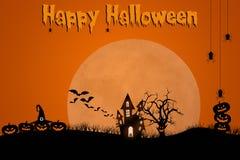Traditionelles gespenstisches Halloween-Schablonendesign mit Raum für Text Lizenzfreie Stockbilder