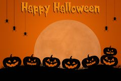 Traditionelles gespenstisches Halloween-Schablonendesign mit Raum für Text Stockbild