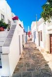 Traditionelles griechisches Haus auf Mykonos-Insel Lizenzfreie Stockfotos