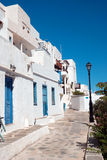 Traditionelles griechisches Haus auf Mykonos-Insel Lizenzfreies Stockfoto