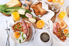 Traditionelles großes amerikanisches Frühstück Lizenzfreies Stockfoto