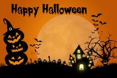 Traditionelles Halloween-Schablonendesign Stockfotografie
