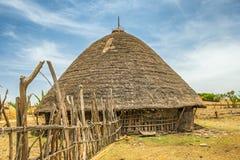 Traditionelles Haus in Äthiopien, Afrika Lizenzfreies Stockfoto