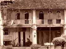 Traditionelles Haus alter Porzellanchinese Malaya-Kunst Stockfotografie