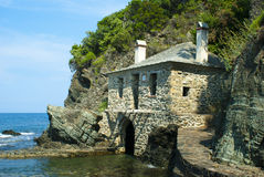 Traditionelles Haus auf einem Strand Lizenzfreies Stockbild